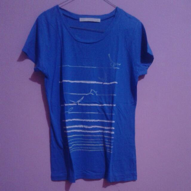 Blue T-Shirt  (Kaos Biru) Reprice