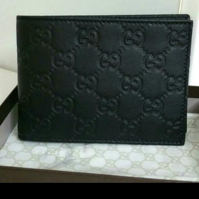 f728cec6f041f Brand New Gucci Black Guccissima Leather Wallet With Coin ...