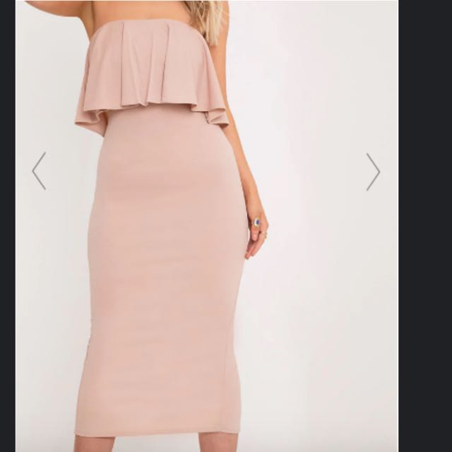 Brand New With Tags Nude Strapless Dress