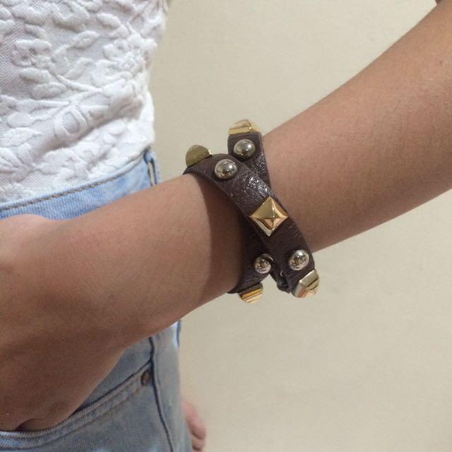 Brown Studded Bracelet