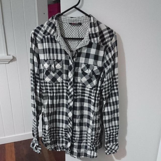 Checkered Plaid Long Sleeve Shirt