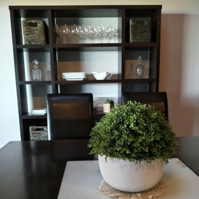 Dining Table,  8 Chairs And Matching Wall Unit