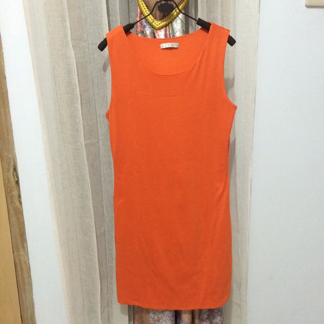 dress orange santai