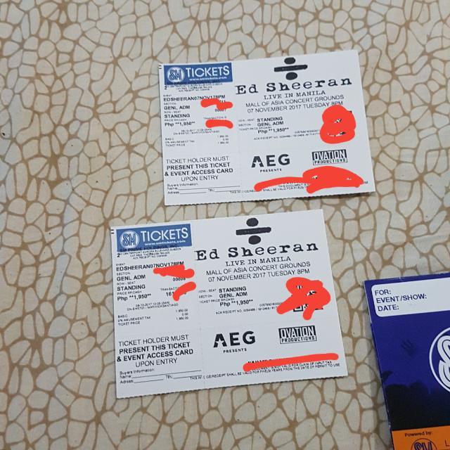Ed Sheeran Concert Tickets
