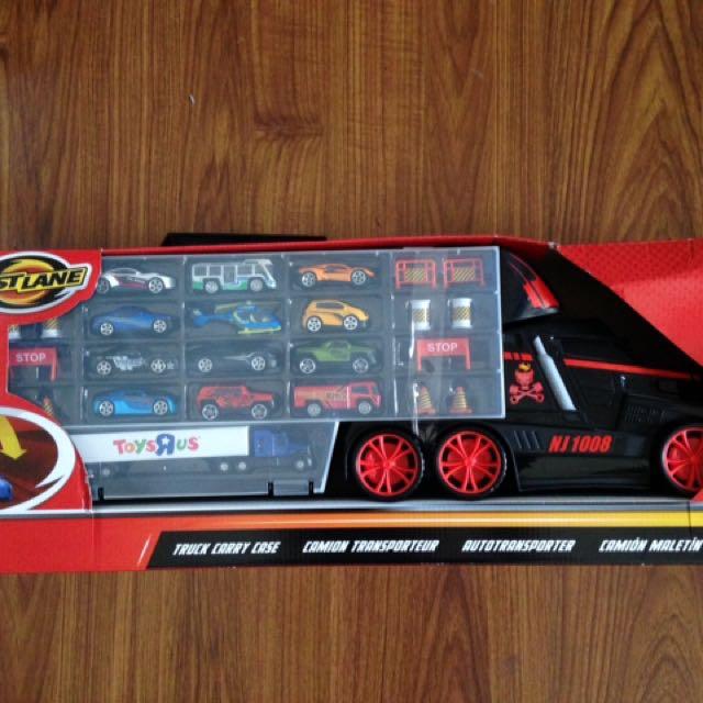 Fastlane Truck Carry Case w/ 12 Toy Cars