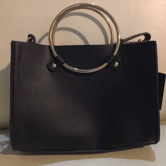 Forever21 2 way Black Bag (shoulder or hand carry)