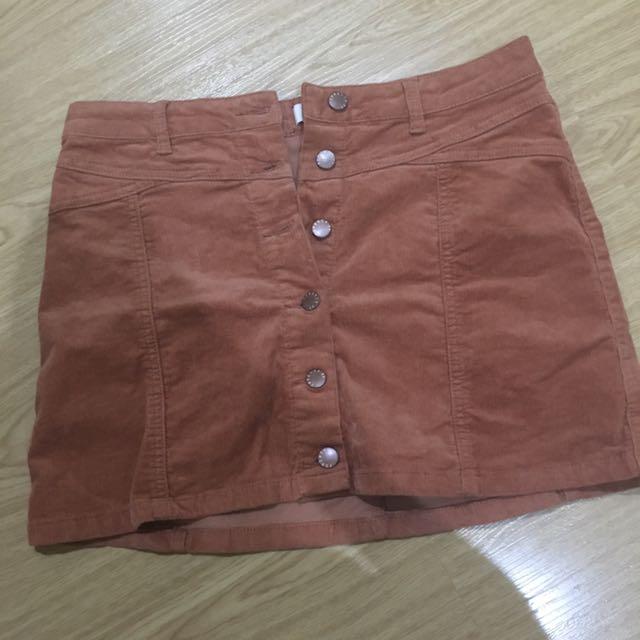 Forever 21 Brown Curduroy Skirt