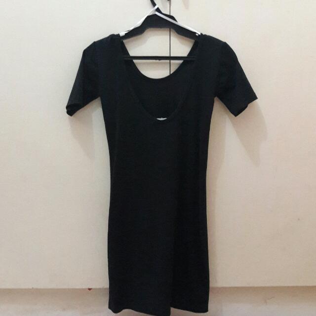 Forever 21 Low Back Black Dress