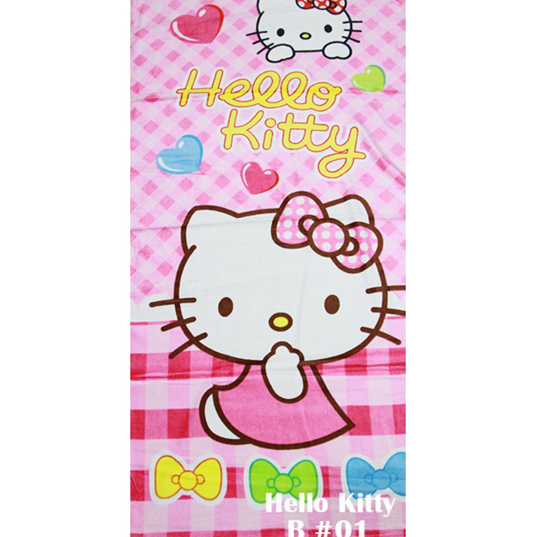 f688fcb39 Hello Kitty bath towel, Babies & Kids, Girls' Apparel on Carousell