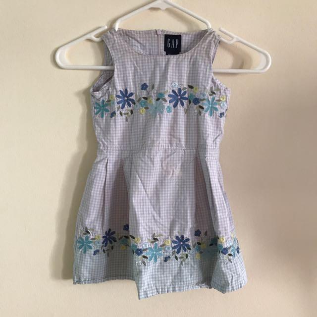 Gap Light Blue Flower Dress 👗