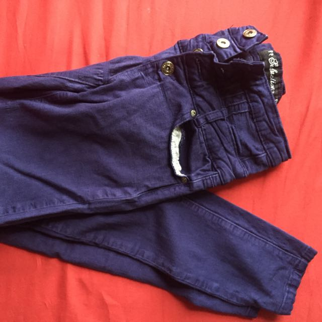 High Waisted Dark Blue Urban Planet Jeans / Jeggings Stretchy