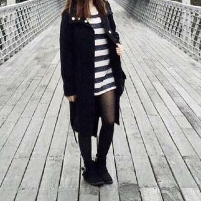 H&M Black Trench Coat