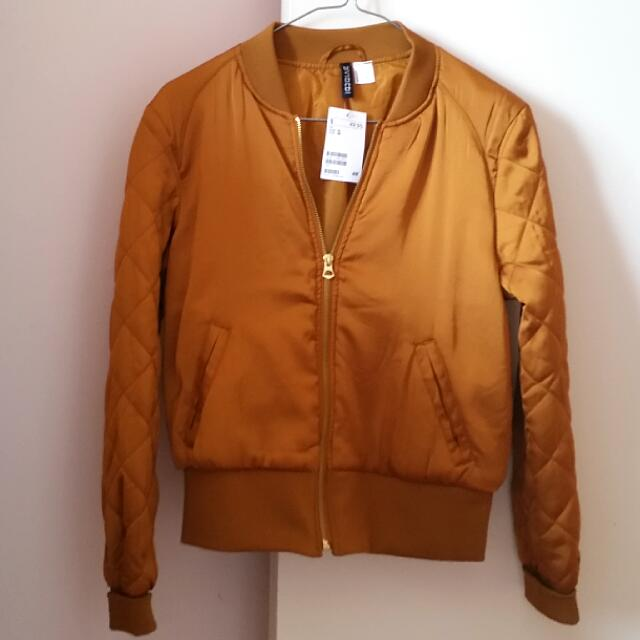 H&M Bronze Bomber Jacket
