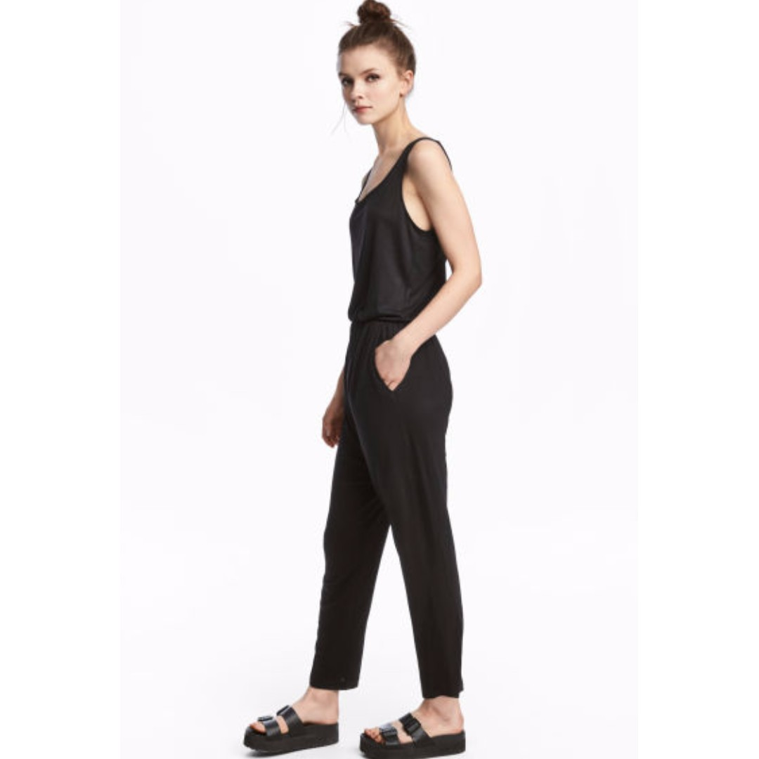 779dac7abaac H M Divided Sleeveless Jumpsuit in Black