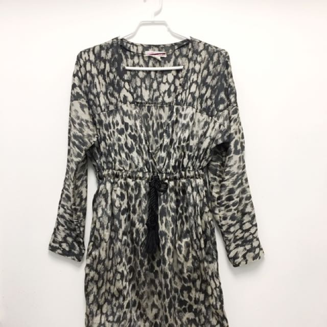 H&M Leopard Satin Dress