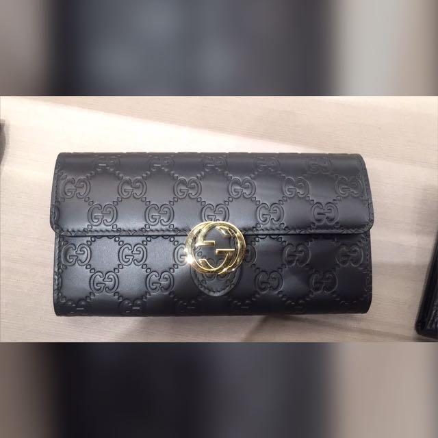 22944bb15d9 INSTOCK ITALY GUCCI 🇮🇹 Ladies Wallet Black