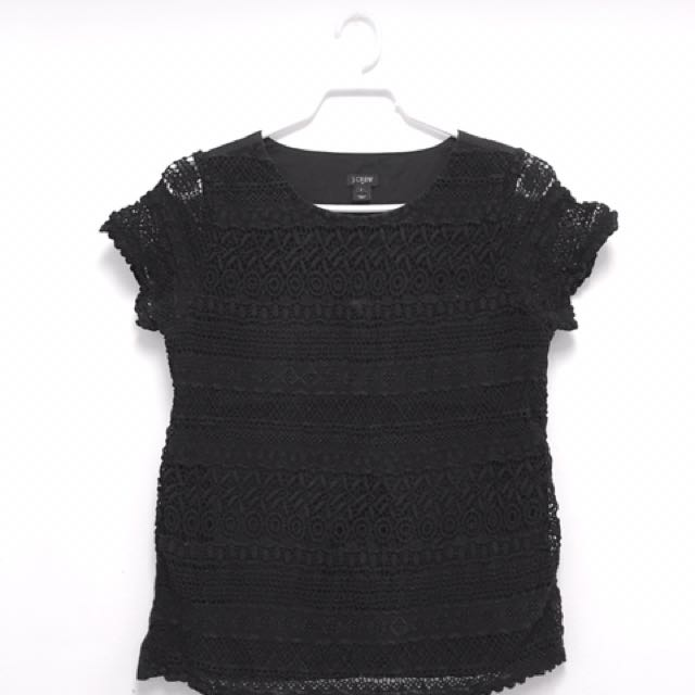J Crew Crochet Top (sz 2)