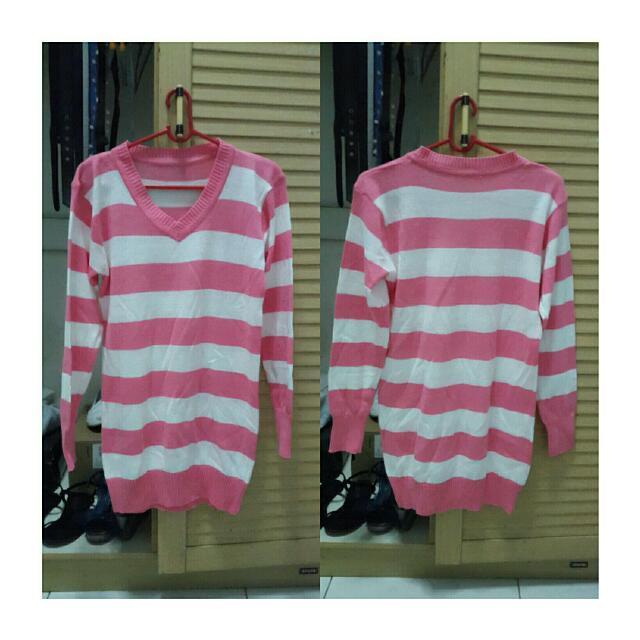 Knit Long Stripes Sweater