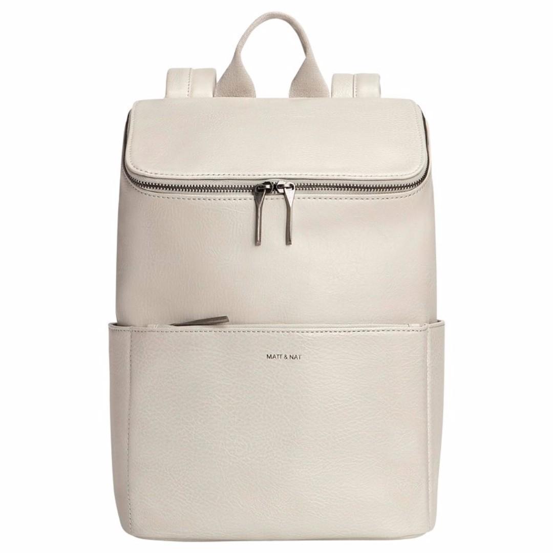 Matt & Nat Dwell Backpack Mist/Cream/White