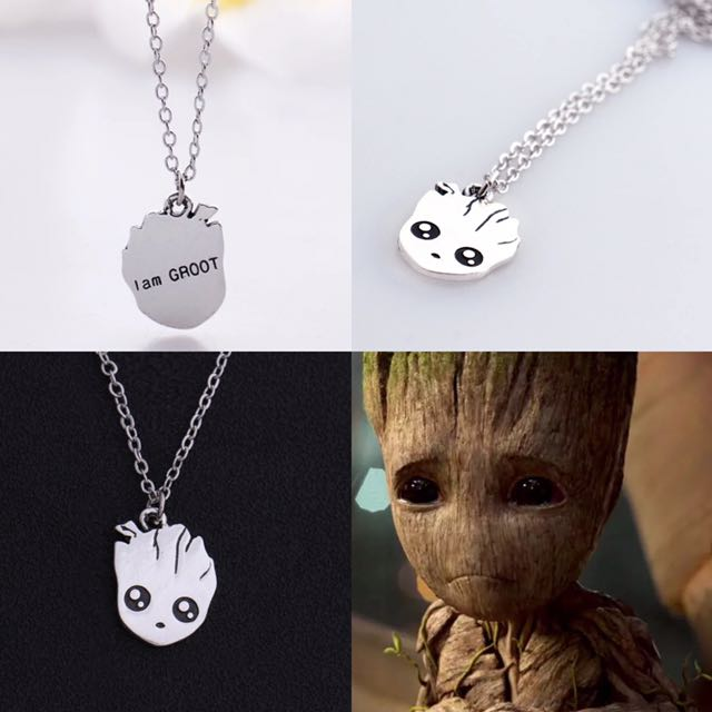 NEW Guardians Of The Galaxy I Am Groot Movie Comic Necklace Marvel