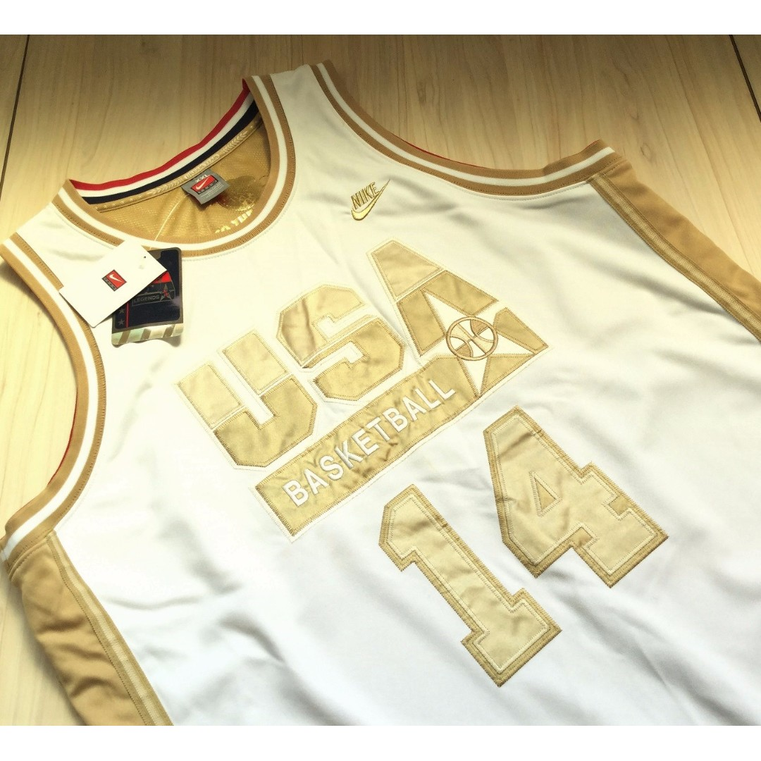 Nike USA Dream Team 夢幻隊 Charles Barkley 白金 限量 球衣 XXL號