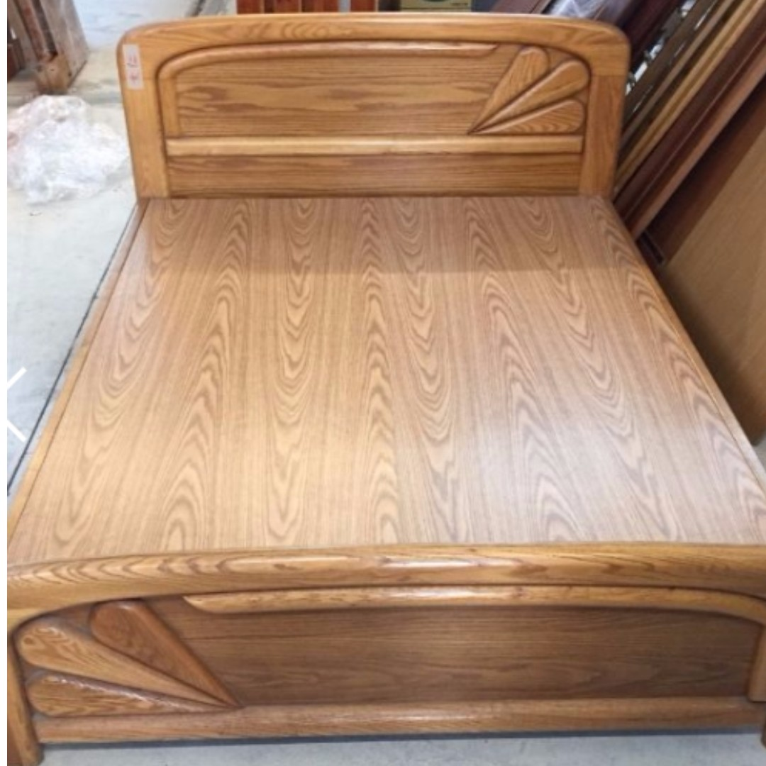 OK桃園二手家具 實木雙人床架/床底板