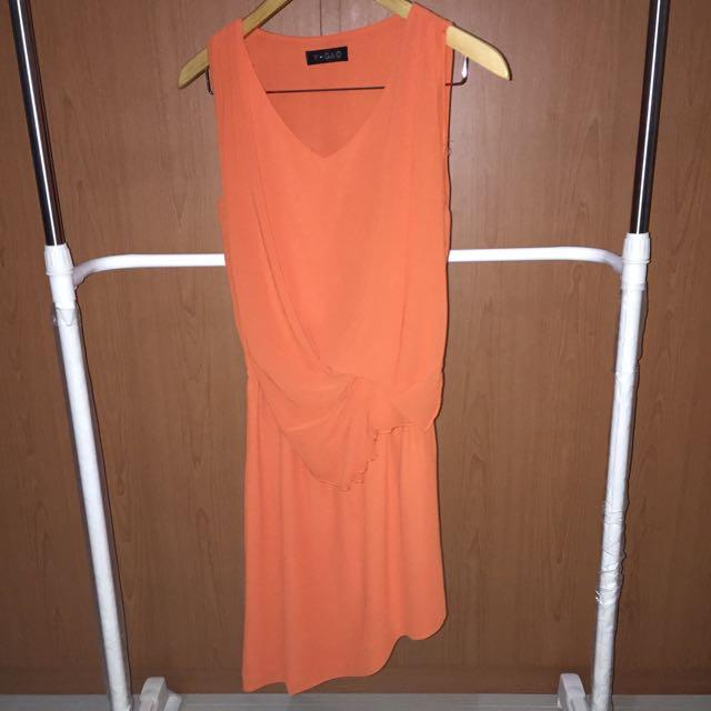 Orange Asymetric Dress
