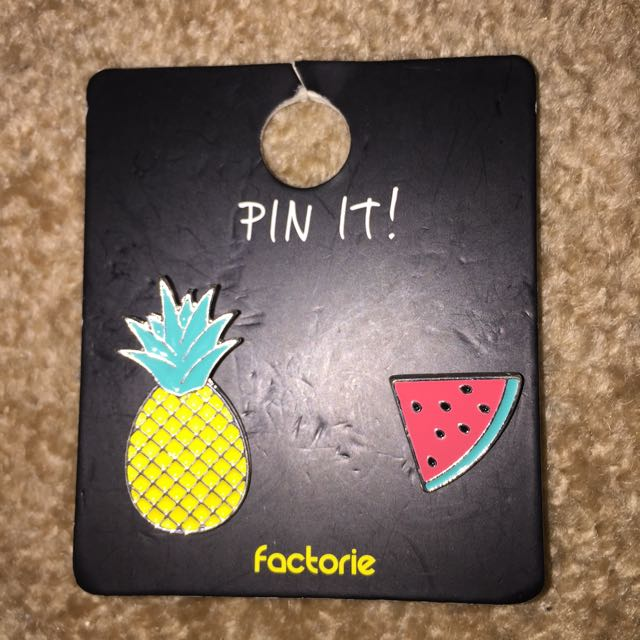 PINEAPPLE AND WATERMELON PINS