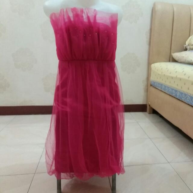 Pink Fusya Dress Gown