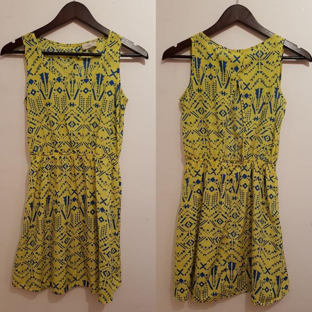 PRELOVED YELLOW COSTA BLANCA PRINT DRESS