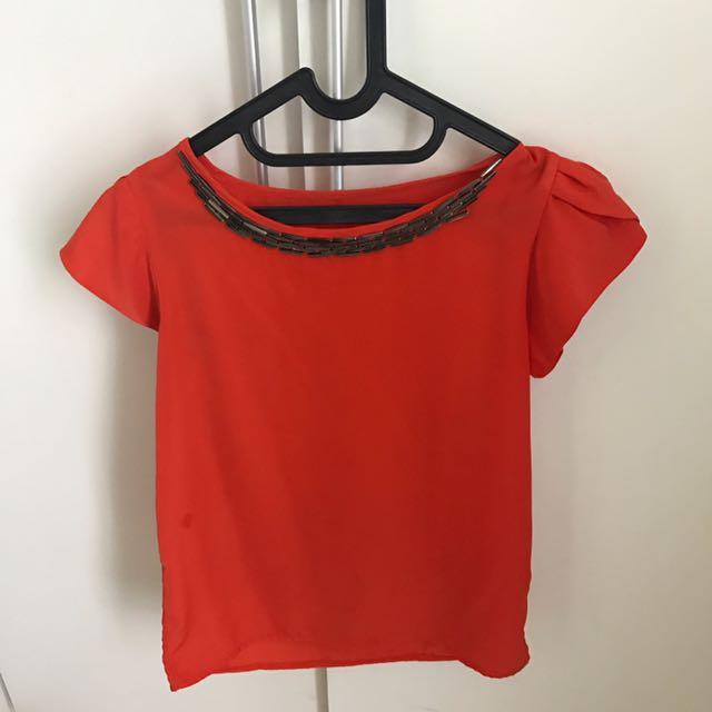 Pretty Orange Shirt (TOP)