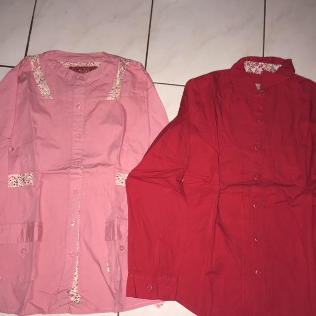 Red And Pink Kemeja @ 25rb