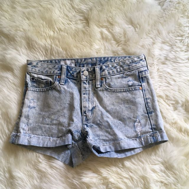 Slight Distressed Denim Light washed Shorts
