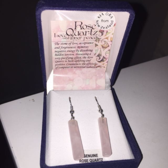 Stunning Rose Quartz Earings From New Zealand