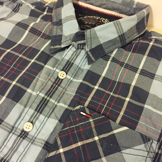 Tommy Hilfiger Men's Shirt Checked Pattern