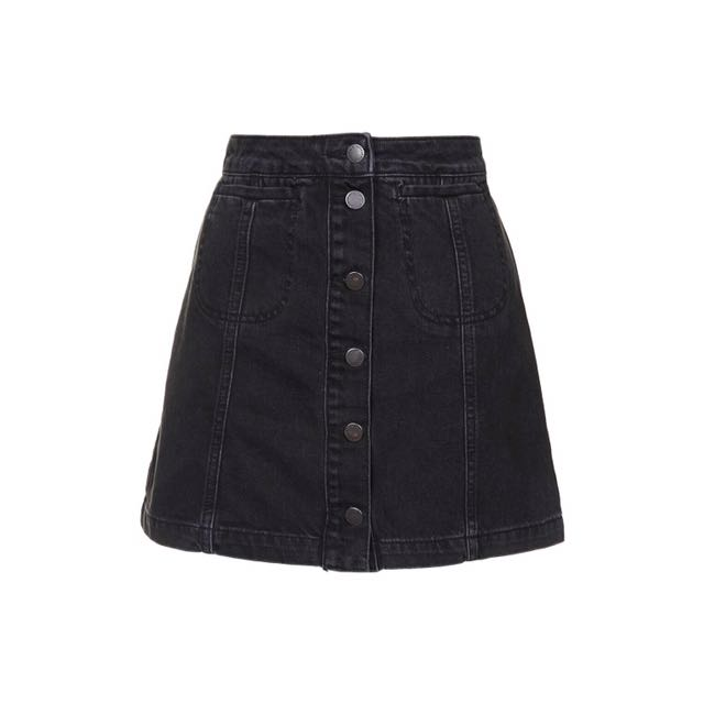 TOPSHOP Button Down Skirt