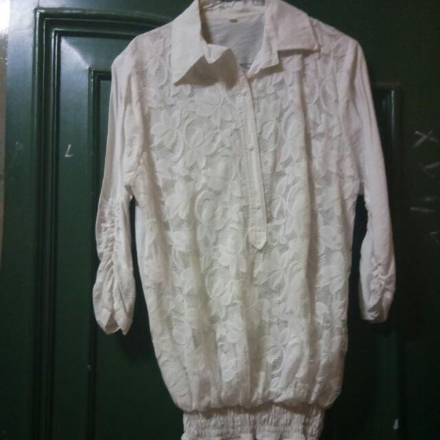 Tunik White/Putih 45rb Ukuran XXL Kecil