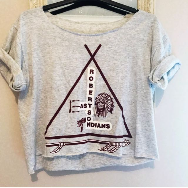 Vintage Style 80s Baseball Cropped Tee
