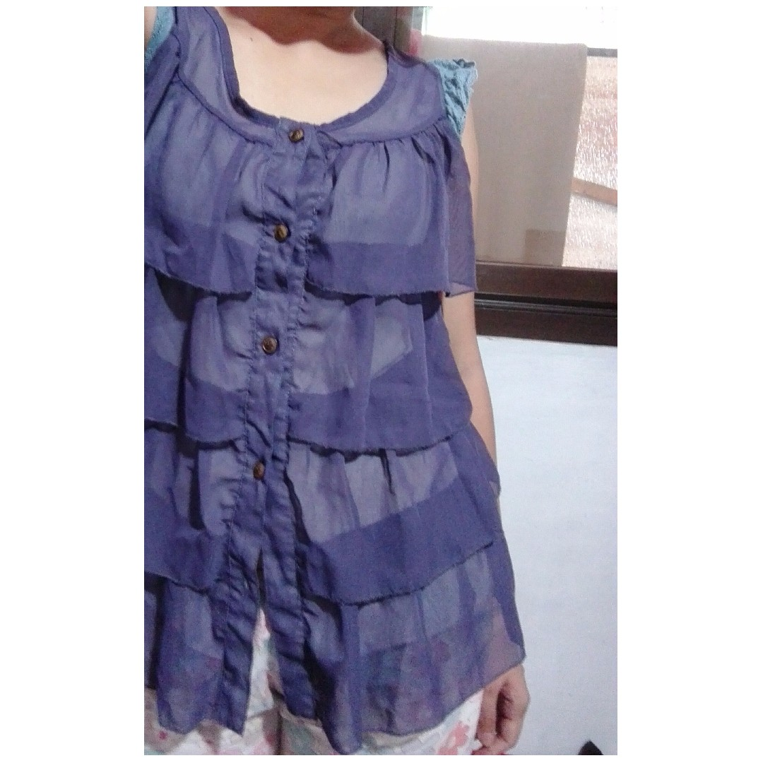 Violet-layered blouse