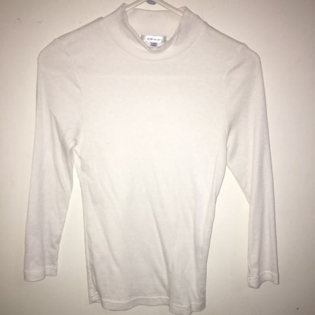 White 3/4 Length Turtleneck