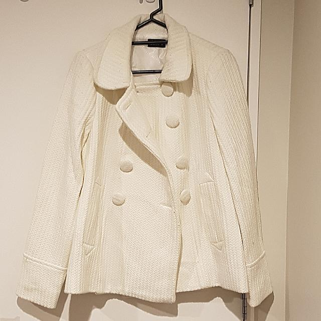 White Dotti Coat