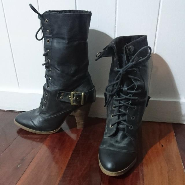 Windsor Smith Laced Heel Boot Size 10