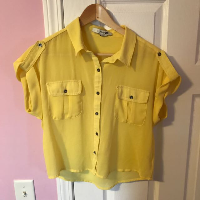 Yellow Forever 21 Shirt