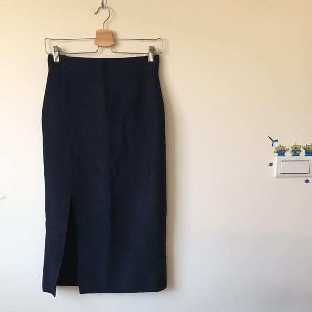 「Zara」混色針織窄裙