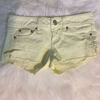 American Eagle Yellow Shorts