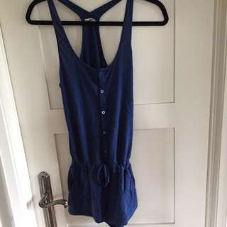 XS TNA Blue Summer Romper