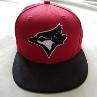Red Blue Jays Fitted Cap