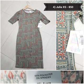 Lularoe Llr Julia Xs . Bnwt. Way Below Retail