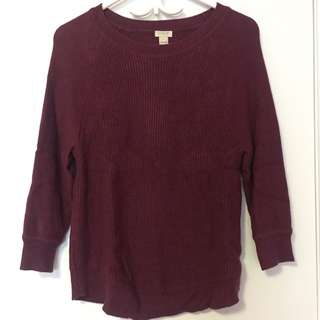 Maroon/Magenta Sweater