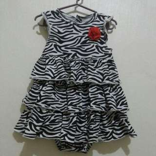Carters zebra inspired dress